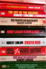 "9 Titles By Robert Ludlum: ""The Osterman Weekend,"" ""The Rhineman Exchange,"" ""The Cry of the Halidon,"" ""The Chancellor Manuscript,"" ""The Scorpio Illusion,"" ""The Apocalypse Watch,"" ""The Matare - Robert Ludlum"