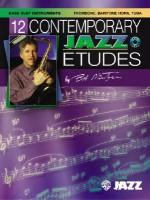 12 Contemporary Jazz Etudes: Bass Clef Instruments, Book & CD - Bob Mintzer