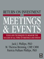 Return on Investment in Meetings and Events - M Theresa Theresa Breining, Jack J. Phillips