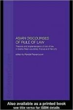 Asian Discourses of Rule of Law - Randall Peerenboom