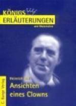 Heinrich Böll: Ansichten eines Clowns. (Königs Erläuterungen und Materialien, Bd. 301) - Bernd Matzkowski