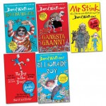 David Walliams Pack, 5 books, RRP £33.95 (Gangsta Granny; Billionaire Boy; Boy In The Dress; Mr Stink; Rat Burger). - David Walliams