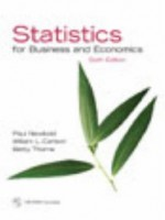 Statistics for Business and Economics and Student CD (6th Edition) - Paul Newbold, William Carlson, William L. Carlson, Betty Thorne