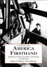 America Firsthand - Robert D. Marcus, David Burner