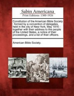 Constitution of the American Bible Society - The American Bible Society