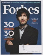 Forbes January 21, 2013 Tumblr's David Karp 30 Under 30 (15 Fields 450 Prodigies All Changing Your World Right Now) - Forbes
