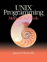 Unix Programming: Methods and Tools - James F. Peters