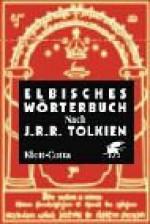 Elbisches Wörterbuch nach J.R.R. Tolkien - Wolfgang Krege