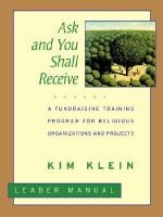 Ask Shall Receive Leader Manua - Kim Klein