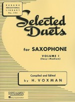 Selected Duets for Saxophone, Volume I: (Easy-Medium): 1 (Rubank Educational Library) - H. Voxman
