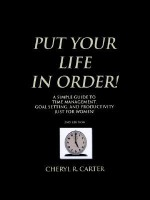 Put Your Life in Order! - Cheryl R. Carter