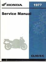 1977 HONDA MOTORCYCLE CL90 S & C SERVICE MANUAL (656) - Honda