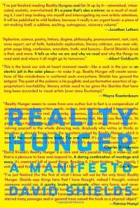 Reality Hunger: A Manifesto - David Shields