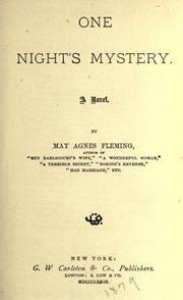 One Night's Mystery - May Agnes Fleming