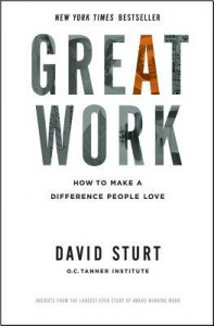 Great Work: How to Make a Difference People Love - David Sturt