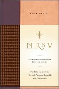 Holy Bible: NRSV Standard Catholic Ed Bible Anglicized (Tan/Red) - Anonymous