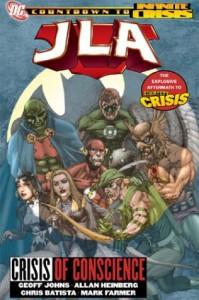 JLA, Vol. 18: Crisis of Conscience - Geoff Johns, Allan Heinberg, Chris Batista, Mark Farmer