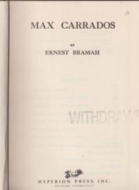 Max Carrados - Ernest Bramah