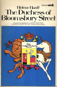 The Duchess of Bloomsbury Street - Helene Hanff