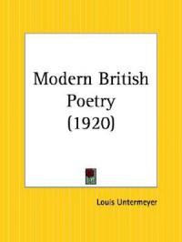 Modern British Poetry - Louis Untermeyer