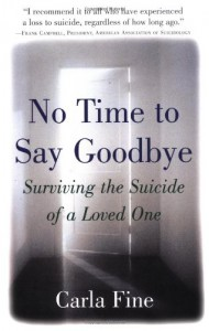 No Time to Say Goodbye: Surviving The Suicide Of A Loved One - Carla Fine