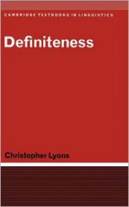 Definiteness - Christopher Lyons