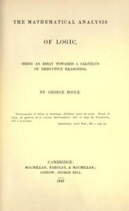 The Mathematical Analysis of Logic: Being an Essay Towards a Calculus of Deductive Reasoning - George Boole