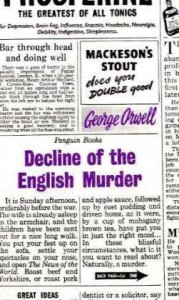 Decline of the English Murder - George Orwell