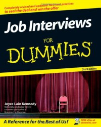 Job Interviews For Dummies - Kennedy