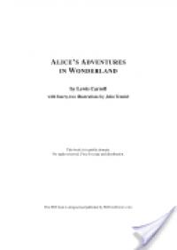 Alice's Adventures in Wonderland - 'Lewis Carroll'
