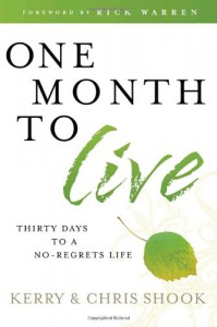 ONE MONTH TO LIVE - SHOOK KERRY & CHRIS