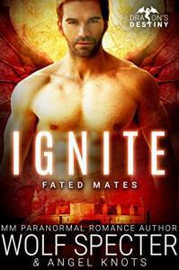 Ignite: M/M Gay Shifter Mpreg Romance (Dragon's Destiny: Fated Mates Book 3) - Angel Knots, Wolf Specter