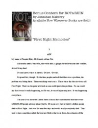 First Night Memories (Benny Imura, #0.5) - Jonathan Maberry