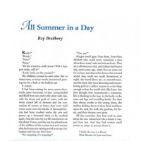 All Summer in a Day - Ray Bradbury