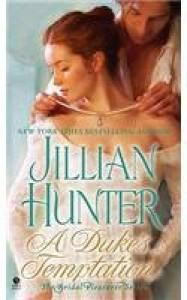 A Duke's Temptation The Bridal Pleasures Series - Jillian Hunter