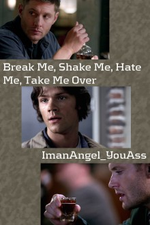 Break Me, Shake Me, Hate Me, Take Me Over - ImanAngel_YouAss