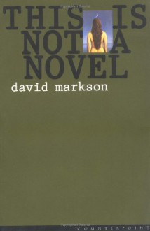 This is Not a Novel - David Markson