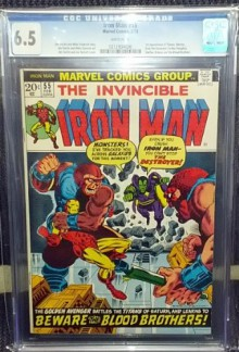 Iron Man #55 1st Appearance Thanos - Jim Starlin, Jim Starlin