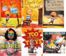 David Shannon Collection Set of 6 Books: A Bad Case of Stripes; David Gets in Trouble; David Goes to School; No, David!; The Rain Came Down; and Too Many Toys (David Shannon Books) - David Shannon