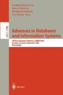 Advances in Databases and Information Systems - Leonid Kalinichenko, Leonid Kalinichenko