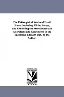 Philosophical Works, Set - David Hume, Hill Green, H. Hodge Grose