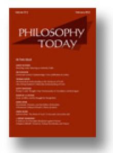 Philosophy Today (Spring 2014) - Peg Birmingham