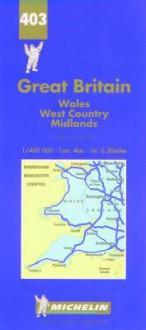 Carte Routiere Et Touristique Michelin: Index of Places: 1/400 000-1 In:6.30 Miles = Grande Bretagne: Repertoire Des Localites - Michelin Travel Publications