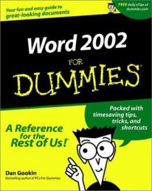 Word 2002 For Dummies - Dan Gookin, Rich Tennant