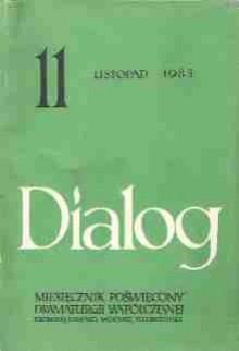 Dialog, nr 11 / listopad 1983 - Jarosław Iwaszkiewicz, Ryszard Frelek, David Hare, Redakcja miesięcznika Dialog