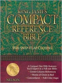 Compact Reference Bible-KJV-Snap Flap - Anonymous