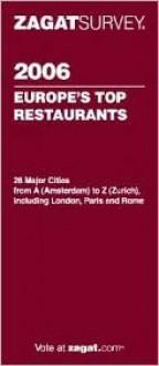 Zagat Survey Europe's Top Restaurants - Zagat Survey