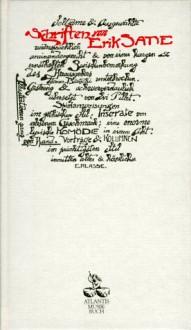 Schriften - Erik Satie