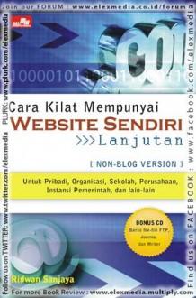 CARA KILAT MEMPUNYAI WEBSITE SENDIRI - Lanjutan - Ridwan Sanjaya