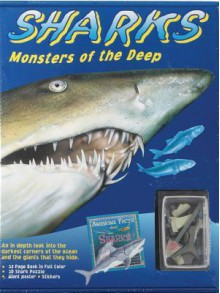 Sharks: Monsters of the Deep [With 32-Page Book and 16 Stickers and Poster and 9-Piece 3D Shark Puzzle] - Flying Frog Pub